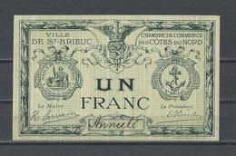 Chambre De Commerce Ville De ST BRIEUC  Billet De 1.00F - Chamber Of Commerce
