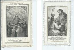 2 Images Pieuses-Les Croix Du Chrétien Et Le Chapelet Quotidien - Devotion Images