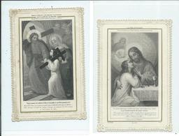 2 Images Pieuses-La Vie D'Union Et Marie Formant Son Enfant D'adoption - Images Religieuses