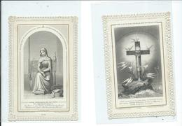 2 Images Pieuses-Humilité,Patience,Résignation Et Mère Admirable Priez Pour Nous - Devotion Images
