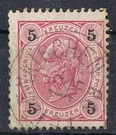 Sello AUSTRIA 1890, 5 Kr. Dentado 13, Fechador PETZENKIRCHEN, Melk,  Yvert Num 49 º - Used Stamps