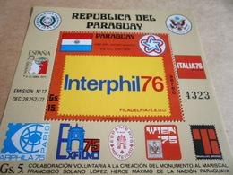 Miniature Sheets 1976 Interphil - Paraguay