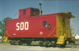 """3924 """"CRUMMY CAN BE BEAUTIFUL-SOO LINE CABOOSE ,#224 """" CART. OR. NON SP. - Trains"""