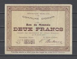 Bon Nécessité  Commune D'OHAIN  Bon De 2.00F - Bonds & Basic Needs