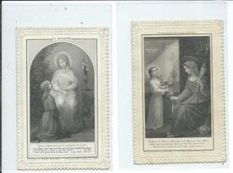 2 Images Pieuses-La Modestie Et Notre Dame De La Vie Cachée - Devotion Images