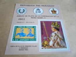 Miniature Sheets Quuen Elizabeth Coronation Anniversary - Paraguay