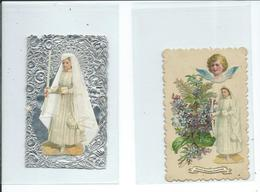 2 Images Pieuses-Communiantes - Images Religieuses