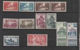 Guinée 12 Timbres Neufs 1938-44 (dont 6 Sur Charnière) - Guinea Francesa (1892-1944)