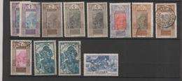 Guinée 12 Timbres 1913-38 (oblitérés, Neufs Sans Gomme, Neufs Sur Charnière) - Guinea Francesa (1892-1944)