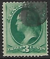 US  1870   Sc#136 Or 136A  3c  Washington  With Grill  Used   2016 Scott Value $32.50  Probably Grill I - Usados