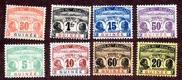 Guinée Taxes N°8/15 N** LUXE (le 13 X) Cote 280 Euros !!!RARE - Guinée Française (1892-1944)