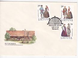 Lithuania  , 1992 , National Costumes , FDC - Lithuania