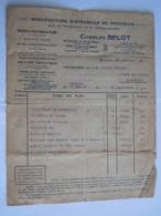 1919 Charles Belot Bruxelles Location De Films Facture Cinema Des Varietés Ecaussines - Autres