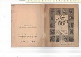 BOEK 15.50X12 CM - DAG VAN HET VLAAMSE LIED - MCMLII - 1952 - 21 BLZ. - Books, Magazines, Comics