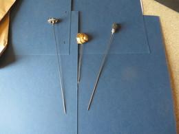 EPINGLES,AIGUILLES à CHAPEAUX , 3 Exemplaires De 12,20, Et 21 Centimetres - Headdresses, Hats, Caps