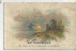 Château Au Bord D'un Lac. Publicité Pour Au Tisserand à Liège. - Chromos