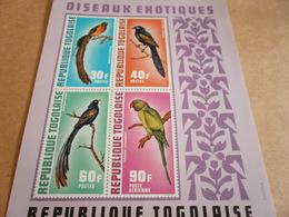 Miniature Sheets Togo Exotic Birds - Togo (1960-...)