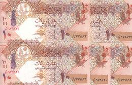 QATAR 10 RIYAL 2008 P-30 LOT X5 UNC NOTES   */* - Qatar