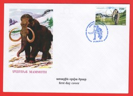 Armenien / Armenie / Armenia 2019, Fauna Of The Ancient World, Steppe Mammoth - FDC - Armenia