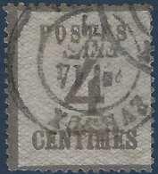 FRANCE Alsace Lorraine N°3 4c Gris Lilas Obl Française Evreux RRR Signé Calves - Alsace-Lorraine
