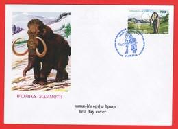 Armenien / Armenie / Armenia 2019, Fauna Of The Ancient World, Steppe Mammoth - FDC - Stamps