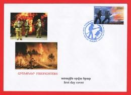 Armenien / Armenie / Armenia 2019, Firefighte, Fire Truck - FDC - Arménie