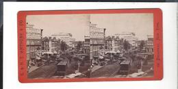 U. S. A .  AMERICAN EXPRESS BUILDING Hudson Street New York - Stereoscoop