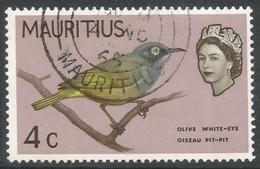 Mauritius. 1965 Birds. 4c Used. Upright Mult Block CA W/M SG 319 - Maurice (...-1967)