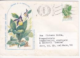 1998, Moldova  Moldavie , Moldawien , Moldau , Flowers , Used Cover - Moldova