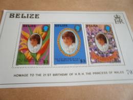 Miniature Sheets  1982 Princess Diana 21st Birthday - Belize (1973-...)