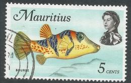 Mauritius. 1969 Sealife. 5c Used. SG 385 - Mauritius (1968-...)