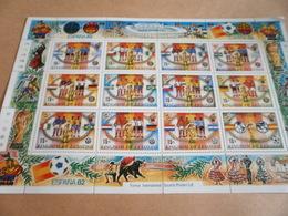 Miniature Sheet Football World Cup Spain 1982 - Lesotho (1966-...)