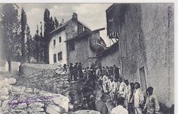 Cpa -05-milit-villar St Pancrace-animée- Chasseurs Alpins -artilleurs Alpins Faisant La Chaine-edi E.Robert - Autres Communes