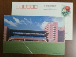 Soccer Football Field,China 2001 Shanghai High School Advertising Pre-stamped Card - Basketball