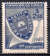 Chile  1949 - The 100th Anniversary Of School Of Arts And Crafts, Santiago - Chile