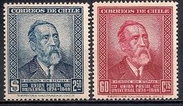 Chile  1950 - The 75th Anniversary Of UPU - Chile