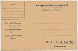 Carte Lettre Kriegsgefangenenpost Prisonnier De Guerre Allemagne - Marcophilie (Lettres)
