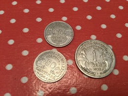Lot 3 Pièces Aluminium - Münzen & Banknoten