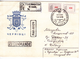 1994, Ukraine  To Moldova , Tchernovtsy , Local Stamp , Used Pre-paid Envelope - Ukraine