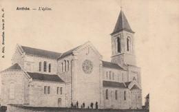 Anthée  L'eglise Circulé En 191????? - Onhaye