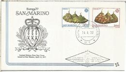SAN MARINO FDC EUROPA CEPT 1977 - Europa-CEPT