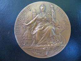 Ancienne Médaille Bronze Commémorative Signée Max Bourgeois élection Casimir Perier Attribuée Au Député A BERARD. - Royaux / De Noblesse