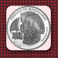 WC - Portugal 7.5 Euro - 500th Anniversary Of Magellan Circun-Navigation - The Departure 1519 - SILVER  UNC - Portugal