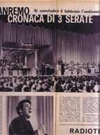 (pagine-pages)SANREMO  Radiocorrieretv1961/05. - Livres, BD, Revues