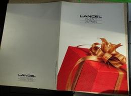 Catalogue Port Folio Lancel Cadeaux D'affaires - Stylo Bibelot Déco Etc - Publicidad