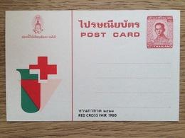 Thailand 1980 Postal Stationery Post Card, Red Cross Rode Kruis Rotes Kreuz Cruz Roja Croix Rouge **, MNH - Thailand