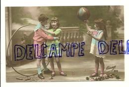 Photographie. Enfants Qui Jouent. Cerceau, Ballon, Corde à Sauter. 1919. Mésange 970. Lévy & Fils - Jeux Et Jouets