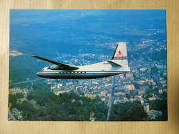 LUXAIR   FOKKER 27   AIRLINE ISSUE / CARTE COMPAGNIE - 1946-....: Ere Moderne