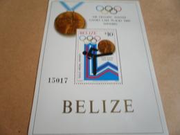 Miniature Sheet Belize Lake Placid Olympics 1980 - Belize (1973-...)