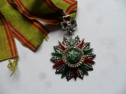 (Tunisie, Epoque Beylicale à Définir - Militaria ?) - Décoration Nichân Iftikhâr (argent, Poinçon Monnaie Du Bardo...) - Medals